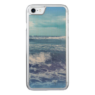 Blue Atlantic Ocean Waves Clouds Sky Photograph Carved iPhone 8/7 Case