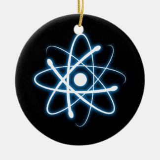 Blue Atom   Geek Christmas Ornament