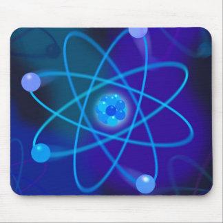 Blue Atomic Structure Mouse Mat
