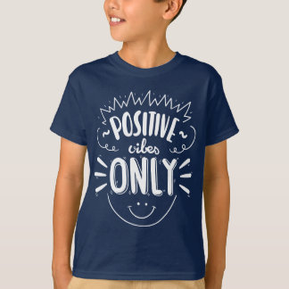 Blue Attitude Quote Happy Face Dreams Boys T-Shirt