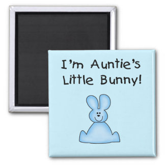 Blue Auntie s Little Bunny Tshirts and Gifts Fridge Magnets