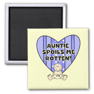 Blue Auntie Spoils Me Tshirts and Gifts Refrigerator Magnet