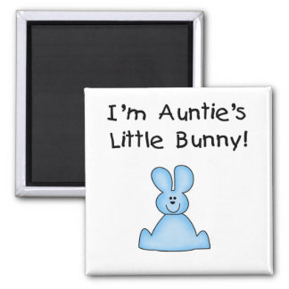 Blue Auntie's Little Bunny Tshirts and Gifts Square Magnet