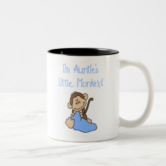 Blue Auntie's Monkey Two-Tone Coffee Mug