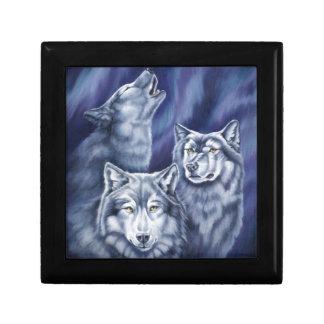 Blue Aurora Wolves Gift Box