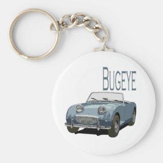 Blue Austin Healey Sprite Basic Round Button Key Ring