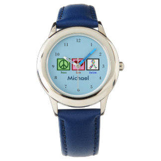 Blue Autism Custom Kids Wristwatches