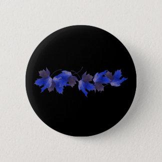 Blue Autumn Leaves 6 Cm Round Badge