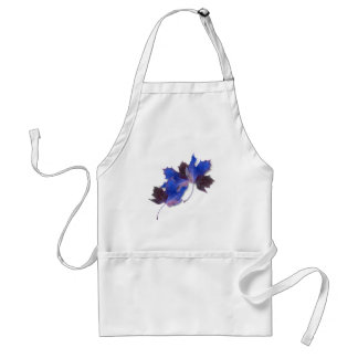 Blue Autumn Leaves Adult Apron
