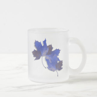 Blue Autumn Leaves Mugs