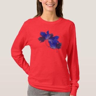 Blue Autumn Leaves T-Shirt