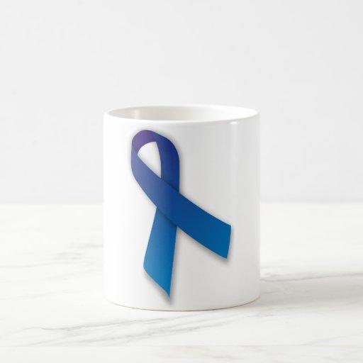 Blue Awareness and Remembrance Ribbon Coffee Mug