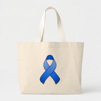 Blue Awareness Ribbon Bag