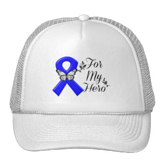 Blue Awareness Ribbon For My Hero Cap