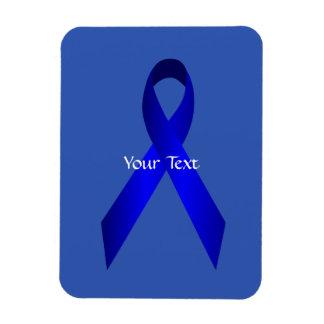 Blue Awareness Ribbon Premium Magnet Template