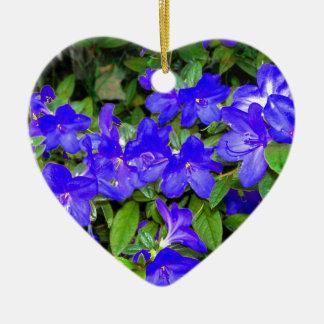 Blue Azalea Flowers Christmas Ornament