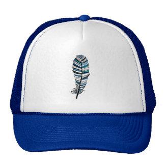 Blue Aztec Feather Cap