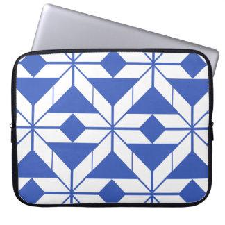 Blue Aztec Geometric Design Laptop Sleeve