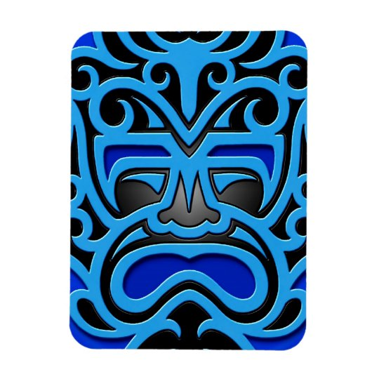 Blue Aztec Mask Magnet