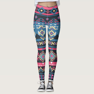 Blue Aztec Pattern Women's Leggings