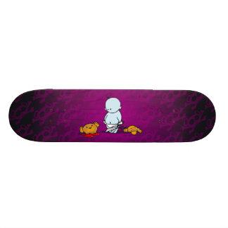 Blue Baby and Teddybear Skateboard