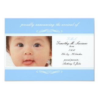 Blue Baby Announcement Photo Cards