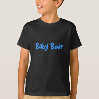 Blue Baby Bear Mother's / Father' Day Gift - black T-Shirt