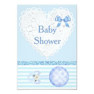 Blue Baby Boy Baby Shower Invitation