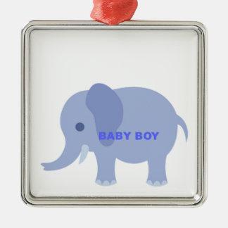 Blue Baby Boy Elephant Christmas Ornament