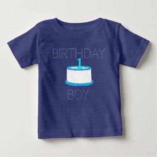 Blue Baby Boy First Birthday Shirt