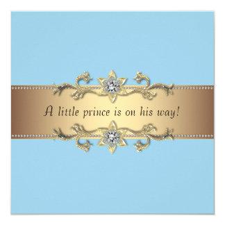 Blue Baby Boy Prince Shower 13 Cm X 13 Cm Square Invitation Card