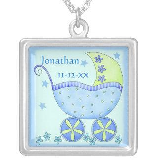 Blue Baby Buggy Carriage Customized Custom Jewelry