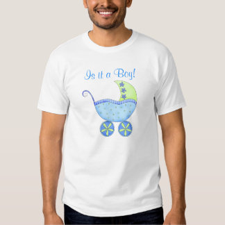 Blue Baby Buggy It's A Boy Dad's Tees