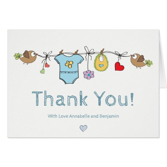 Blue Baby Clothes | Thank You Baby Shower