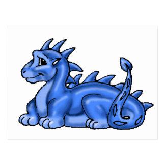 Blue Baby Dragon Postcard