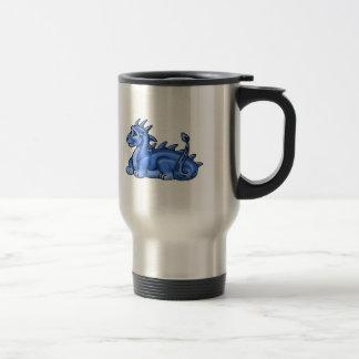 Blue Baby Dragon Stainless Steel Travel Mug