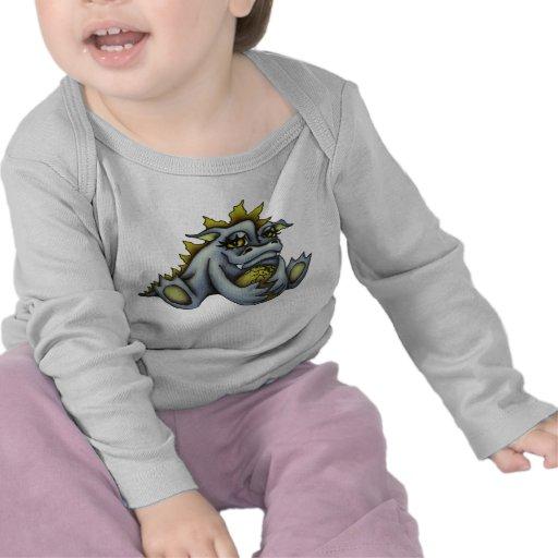 Blue baby dragon t-shirts