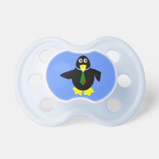 Blue baby dummy Funny penguin - Pacifier
