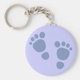 Blue Baby Footprint It's A Boy! Keychain