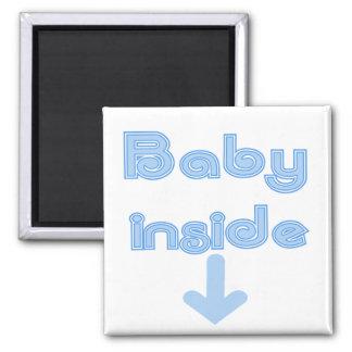 Blue Baby Inside Magnet