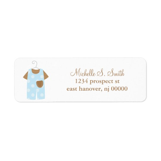 Blue Baby Outfit Address Labels