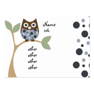 Blue Baby Owl Business Card