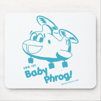 Blue Baby Phrog Mouse Pad