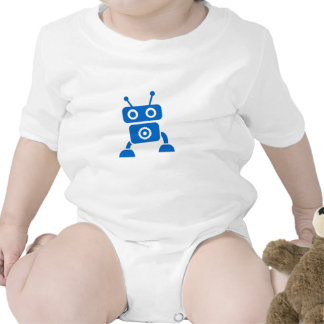 Blue Baby Robot Baby Clothes Tee Shirts