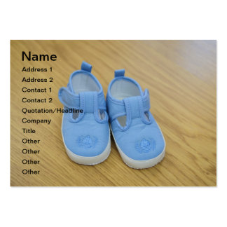 Blue baby shoes business card template