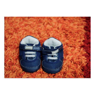 Blue baby shoes business cards
