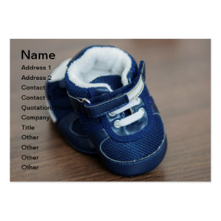 Blue baby shoes business card templates