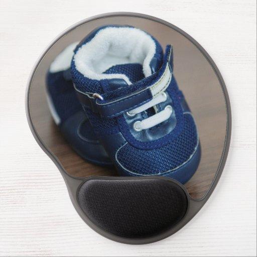 Blue baby shoes gel mousepad