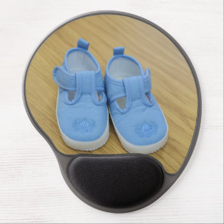 Blue baby shoes gel mouse mat
