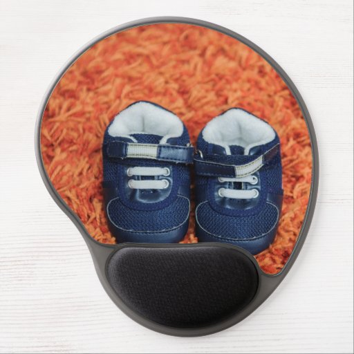 Blue baby shoes gel mousepads